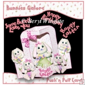 Bunnies Galore Push n Pull Card