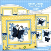 Denim Daisies Card Front & Insert