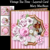 Vintage Tea Time - Layered Card