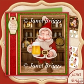 Santa's Christmas Cheer 7.8 Decoupage Kit