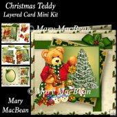 Christmas Teddy Layered Card Mini Kit