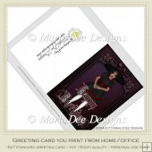 Gothic Doll 2 Happy Birthday Printable Greeting Card