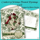 Cranberry Christmas Framed Pyramage Card