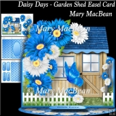 Daisy Days - Garden Shed Easel Card