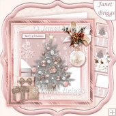 ROSE GOLD CHRISTMAS TREE 7.5 Decoupage & Insert