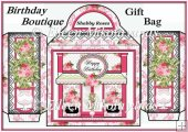 Shabby Roses Birthday Boutique Large Handled Gift Bag