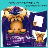 Marty Moose Envelope Card