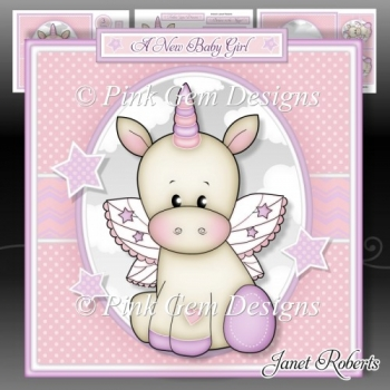 Baby Unicorn Mini Kit. New Baby Girl. Birthday With Ages