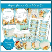 Happy Bunnies Silver Party Set