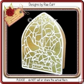 141 Church Window Nativity Scene *Multiple MACHINE Formats*
