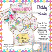 Birthday Bunnies 3D Twist and Pop Card Kit