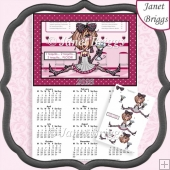 JJ 4 TEQUILA FLOOR 2020 A4 Calendar With Decoupage Humorous Kit