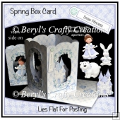 Spring Box Card - Snow Princess