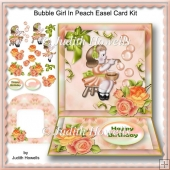 Bubble Girl In Peach Easel Card Kit