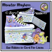 Trendy Sneaker Card - Monster Mayhem