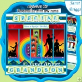 ROCK CONCERT 7.5 Alphabet and Age Quick Card Kit Create Any Name