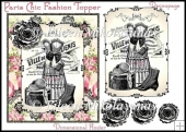 Paris Chic Fashion Topper with Decoupage & Digital Stamp