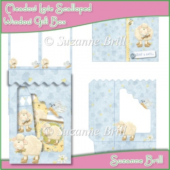 Meadow Love Scalloped Window Gift Box