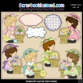 Annabelles Easter Baskets ClipArt Collection