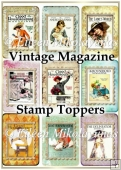 Vintage Lady's Magazine Stamp Toppers Set