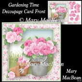 Gardening Time - Decoupage Card Front