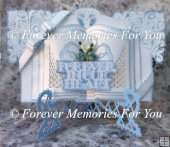 Forever in Our Heart Book Card Silhouette Cameo,Curio,portrait,