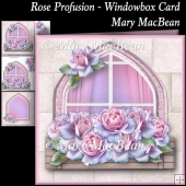 Rose Profusion Windowbox Card
