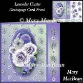 Lavender Cluster Decoupage Card Front