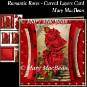 Romantic Roses - Curved Layers Card
