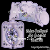 Lilies Scalloped Top Gatefold Card Kit