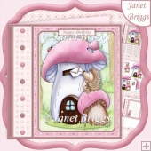 HEDGEHOG'S HOUSE 7.5 Decoupage & Insert Kit
