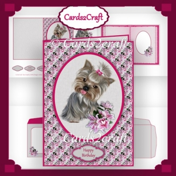 Yorkie and Lily card set