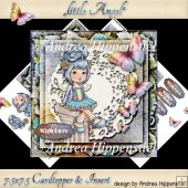 7.5 x 7.5 Card Topper little Angel