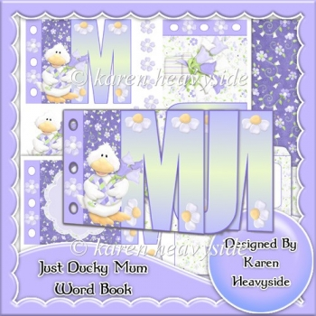 Just Ducky Mum Word Book