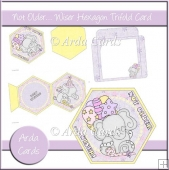 Not Older... Wiser Hexagon Tri Fold Card