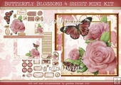 BUTTERFLY BLOSSOMS 4 SHEET MINI KIT Pink