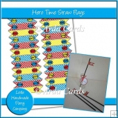 Hero Time Straw Flags