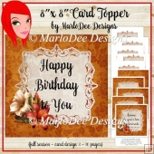 Burnt Orange 8x8 Thanksgiving, Birthday and Blank Card Kit (BT)