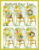 Cottage Chic Daffodil Days Spring Sunshine Tags