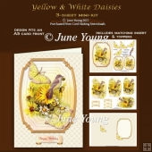 Yellow & White Daisies - 3-Sheet mini-kit
