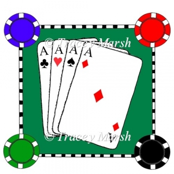 Aces in the Hole Clipart - Commercial and Personal Use