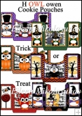 Halloween Trick or Treat Cookie Pouches Set of 6
