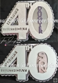 40th Birthday Son & Daughter Cutting files, SVG,MTC,SCAL,Cricut,