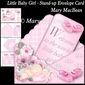 Little Baby Girl - Stand-up Envelope Card