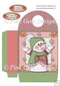 Snowflake Chilly Large Christmas Gift Bag