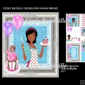 Ethnic Birthday Celebration Woman Mini Kit
