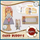 Flower Girl Shaped Fold Card Kit