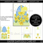 Easter Daffodils Card Kit
