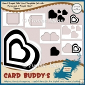 Heart Shaped Fold Card Template + Pyramage & Frayed Heart Topper