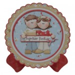 Together Forever Scalloped Plate Card Kit 1